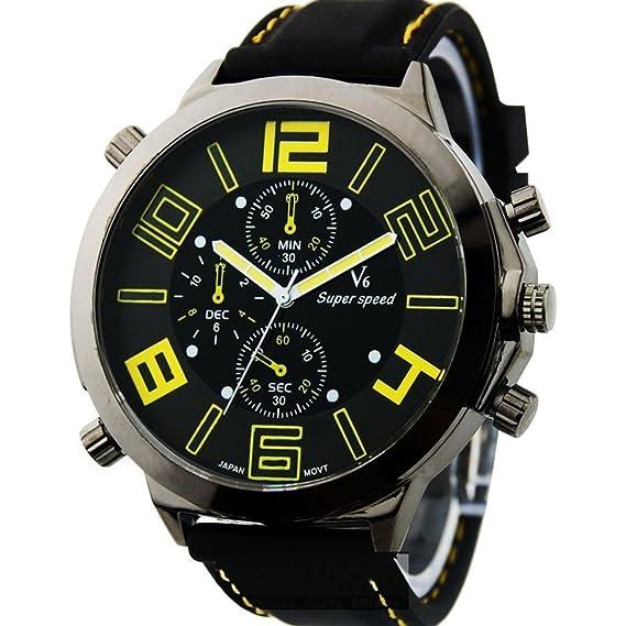CursOnline - Elegante reloj pulsera de cuarzo, tamaño grande/XXL, estilo deportivo para