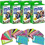#7: Fujifilm Instax Wide Instant Film for Fuji Instax Wide 210 200 100 300 Instant Photo Camera + 40 assorted colorful pattern stickers (80 Film)