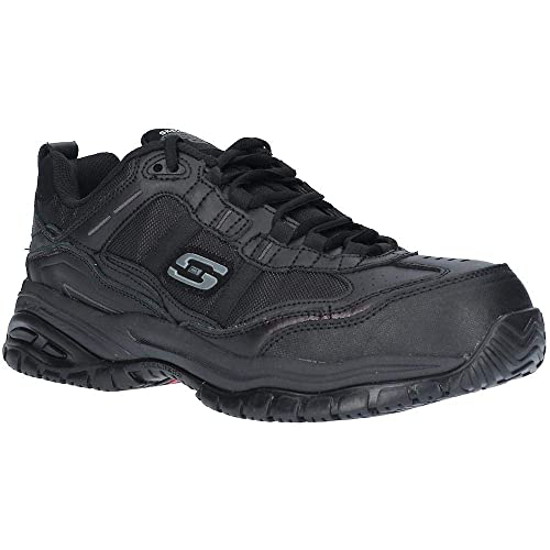 45746d568f67 Skechers Work Relaxed FIT  Soft Stride - GRINNEL Mens Safety Shoes Black UK  6