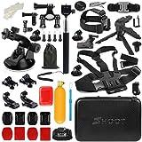 T.Face GoPro Action Camera Accessories Set Monopod Mount Kits for Go Pro Hero 6 5 4 Xiaomi Yi 4K SJCAM SJ5000 SJ7 Eken H9 Cam (XTK162)