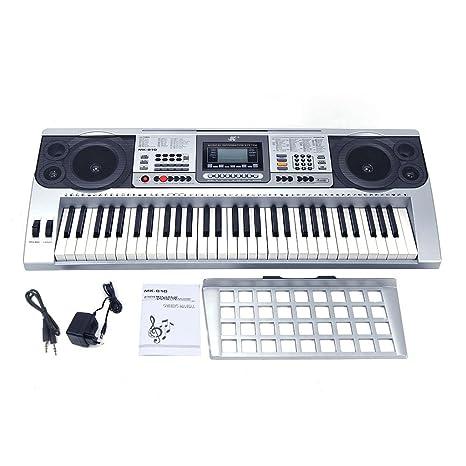 Andoer® Piano Eléctrico Multifuncional 61 teclas Pantalla LCD Teclado Digital con USB Memoria de Estado