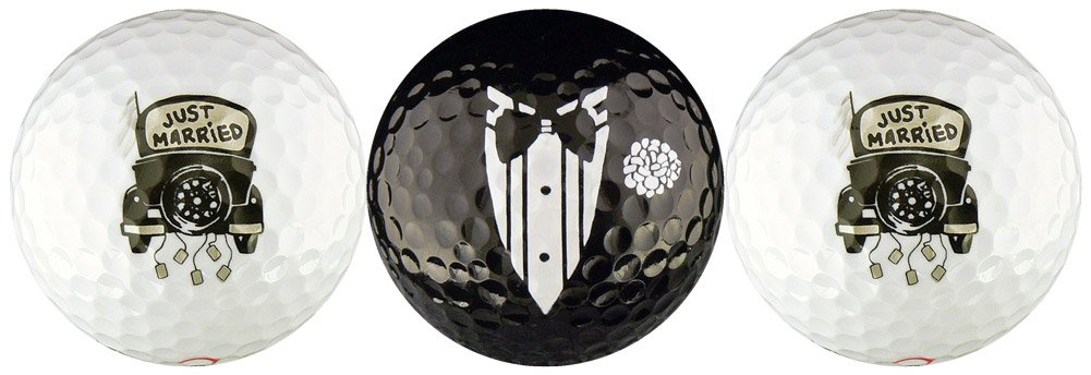 Just Married Wedding Variety Golf Ball Gift Set