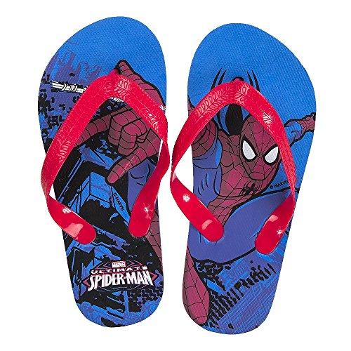 Spiderman Jungen Zehentrenner Blau Blau