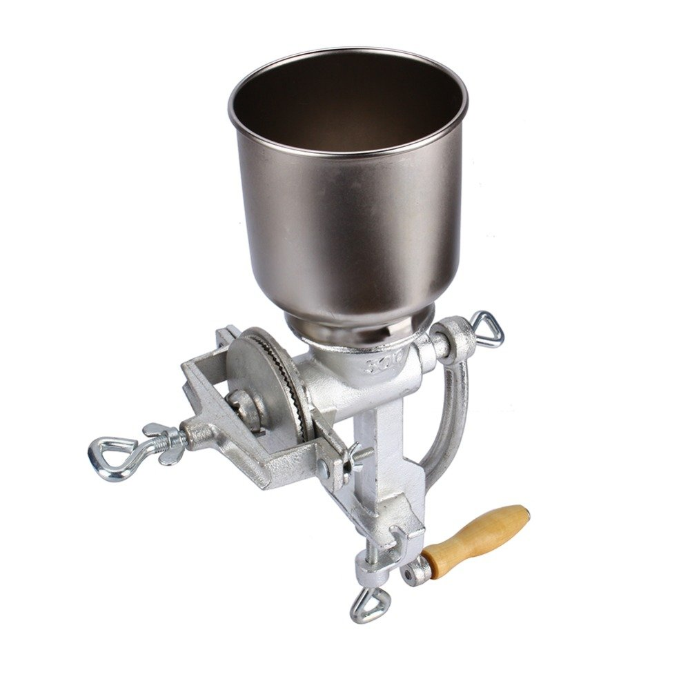 Flour Mill Grinding Machine Manual Grain Grinder Eletroplating Cast Iron Ceramic Corn Coffee Grinding Tools Kitchen Hand Grinder ZNXJJ