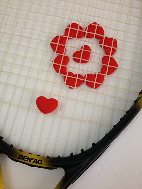 Amazon.com : 1PCS Red Heart tennis vibration dampeners ...