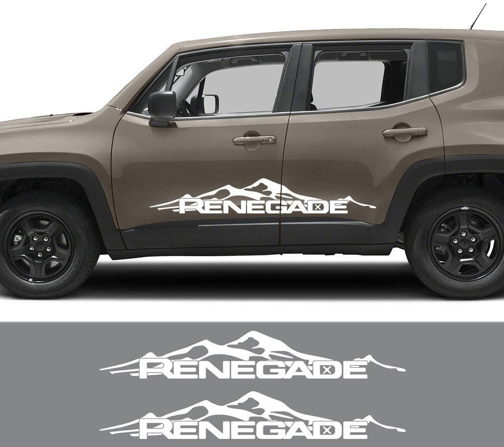 Fsxtlll Auto Seitenstreifen Seitenaufkleber Aufkleber Für Jeep Renegade Sport Freizeit