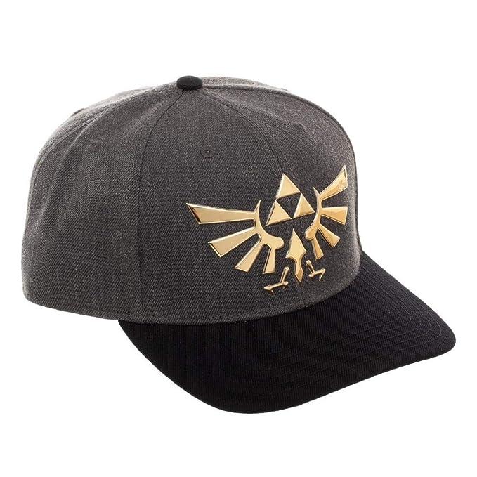 d75fccb939b415 Nintendo - The Legend of Zelda Triforce Curved Snapback Cap Hat ...