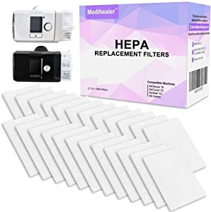 Medihealer CPAP HEPA Filters (ONE Year Supply) - Premium Universal Filters for Allergy Relief - Supplies for AirSense 10 - AirCurve 10 - S9 - AirStart Series CPAP Machines-Replacement Filters Supplies