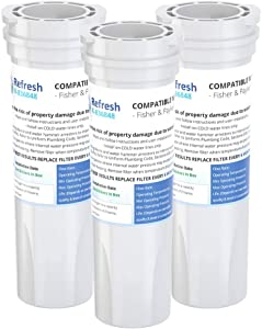Refresh Replacement Refrigerator Water Filter for Fisher & Paykel 836848, 836860, E522B, PS2067635, RF90A180DU, EFF-6017A, E402B, E442B, SUPCO WF296 (3 Pack)