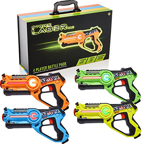 Strike Laser Tag 4 Multi-Player Pack & Deluxe Carry Case - Kids Infrared...