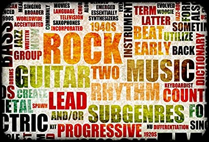 Leyiyi 7x5ft Photography Backdrop Vintage Rock Music Party Backdrop Grunge Graffiti Wallpaper Dirty Room Interior Decor Jazz Group 1940s Heavy Metal