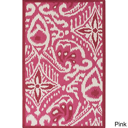 Surya Kate Spain MRS2004-58 Hand Woven Casual Area Rug, 5 by 8-Feet, Burgundy/Beige by Surya