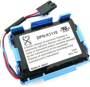 PTK-POWER K1118 C1763 Battery Replacement for DELL PE2600 PE2650 3DI Raid Batteries