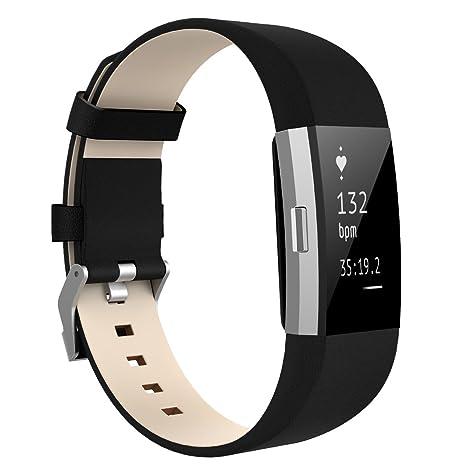 Fitbit Charge 2 bandas, mkeke Premium Vintage de piel pulseras ...