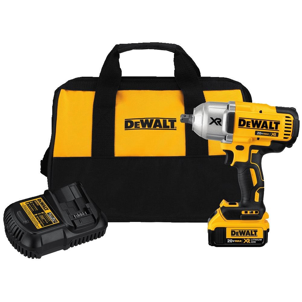 DEWALT DCF899M1 20V MAX XR Brushless High Torque Impact Wrench with Dentent Pin Anvil 1 2