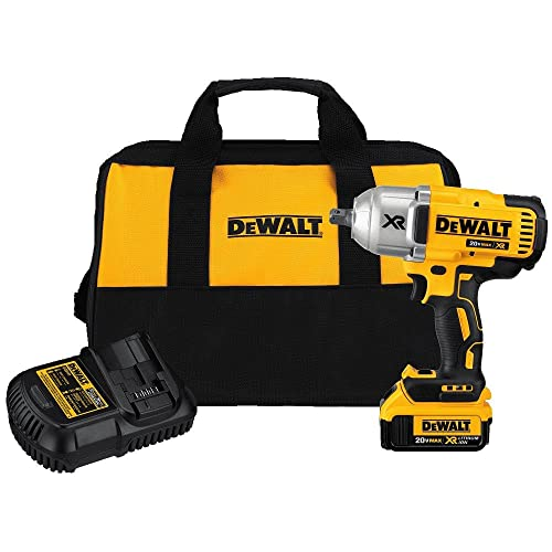 DEWALT 20V MAX XR Impact Wrench Kit, Brushless, High Torque, Detent Pin Anvil, 1 2-Inch DCF899M1