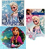 Disney Jigsaw Puzzles for Children- Frozen Puzzle for Kids, Princess Anna & Elsa – 48 Piece Puzzles with Frozen Sticker Book (2 Puzzles & 1 Sticker Book – Pack of 3)