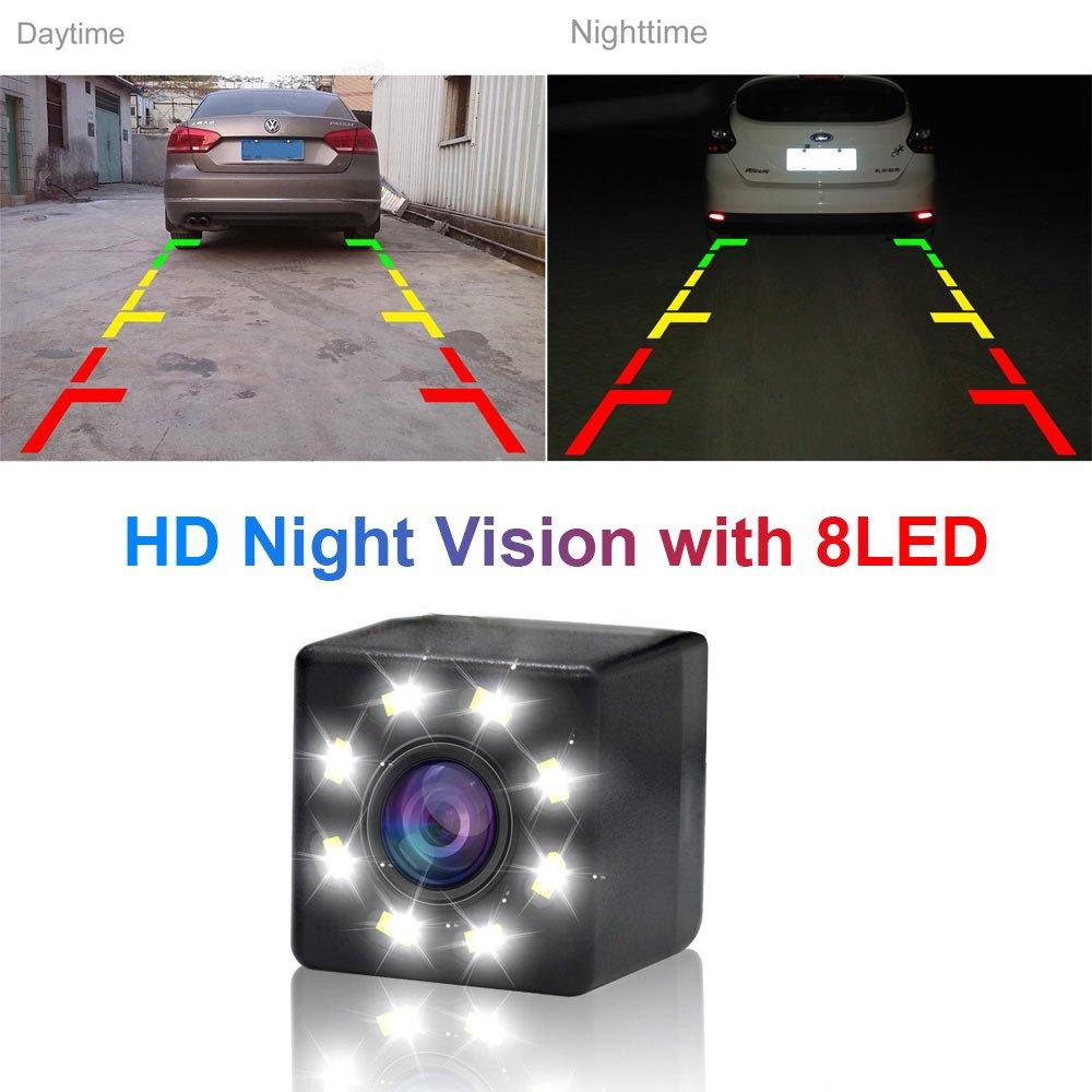 Dynavsal 8 LED Nacht Visionen Auto R/ückfahrkamera 170 /° Weitwinkel HD Farbe Wasserdichte R/ückfahrkamera f/ür Dacia Lodgy//Renault Fluence//Duster Megane//Latitude//Scenic 2//Laguna 2//3 X91//Captur//Clio 4