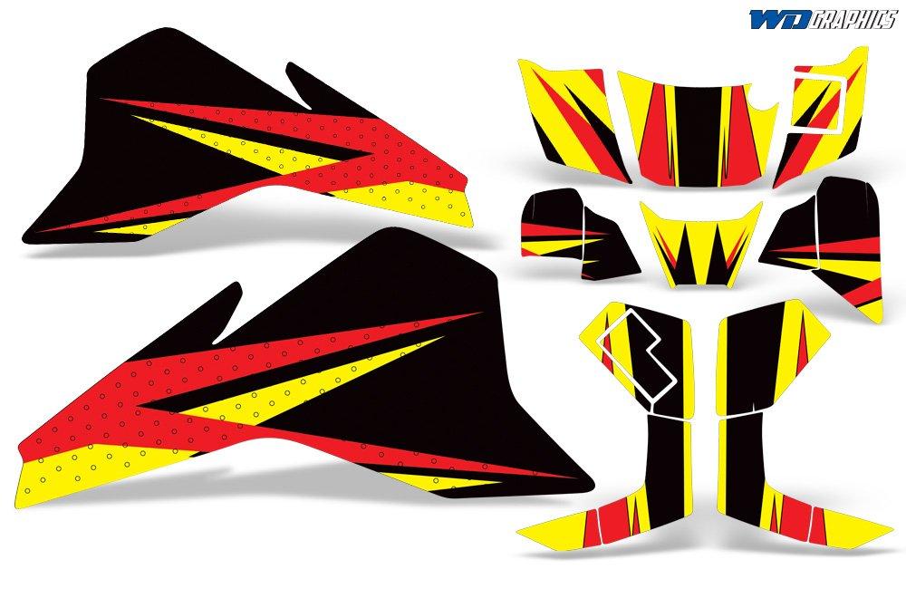 Wholesale Decals Suzuki LT80 1987-2006 Custom Graphics Kit Bold Race Design COMINU021084