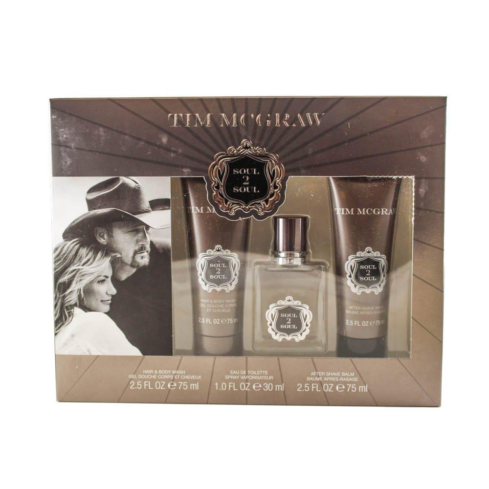 Tim Mcgraw Soul 2 Soul 3 Piece Gift Set for Men 99 Perfumes (EPI Enterprises LLC) - DROPSHIP MCGS3M