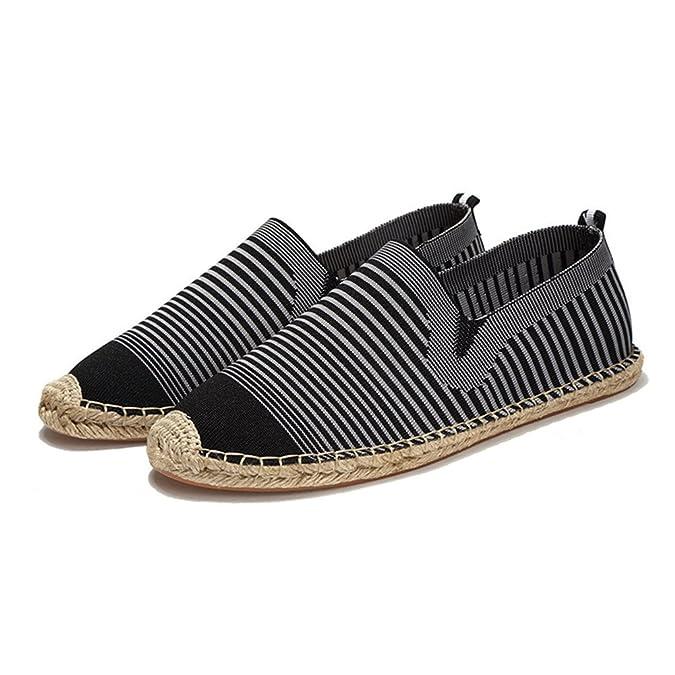 MSKAY Unisex Espadrilles Komfort Chinesische Mode ohne Verschluss Schlüpfen Segeltuchschuhe, 45