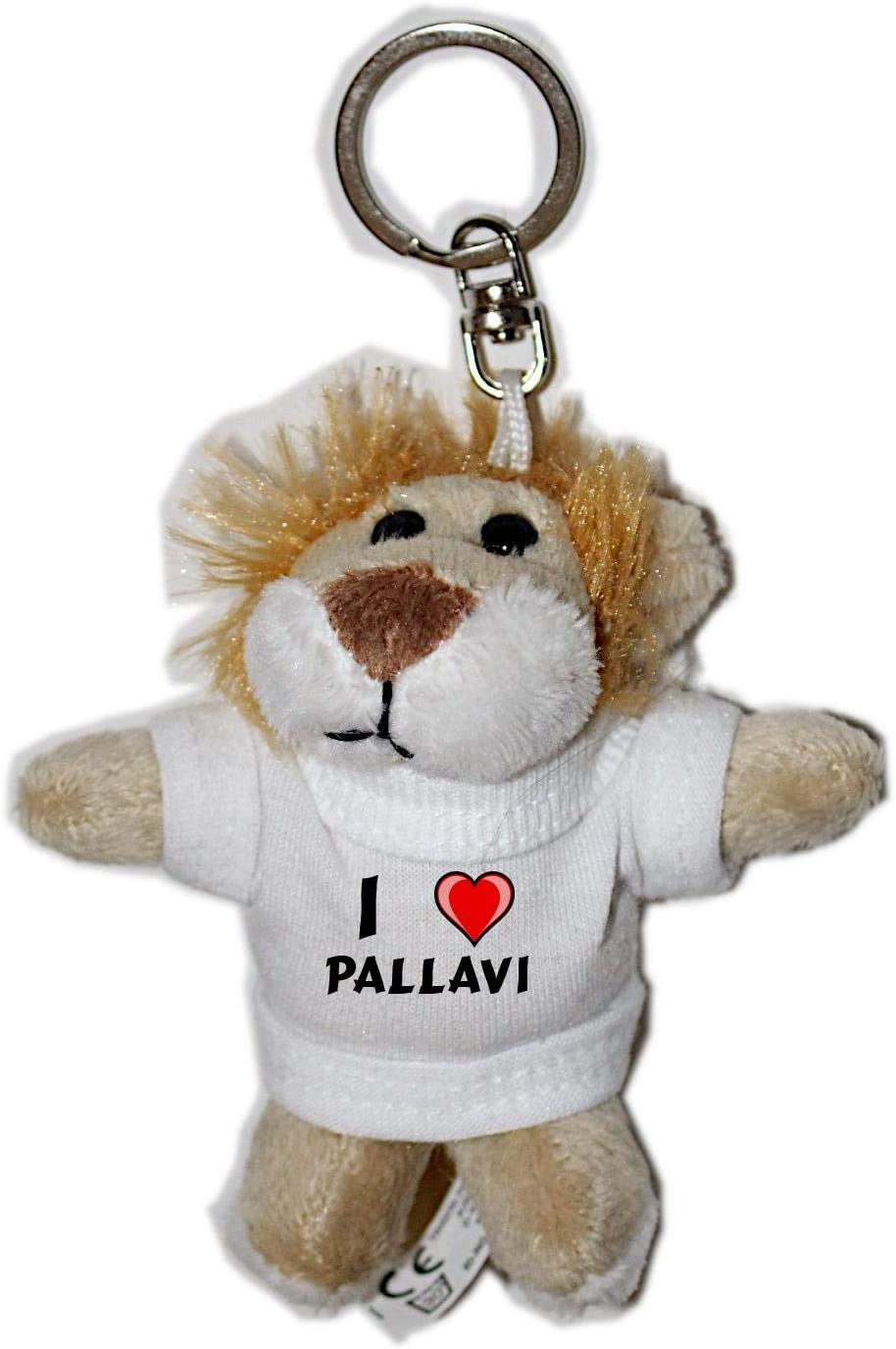 Amazon.com: León – Llavero de peluche con I Love Pallavi ...