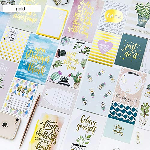 multi-use 48pcs 2 size gold stamp card flower Plant as Greeting Cards gift cards Scrapbooking(48 pieces/lot) ()