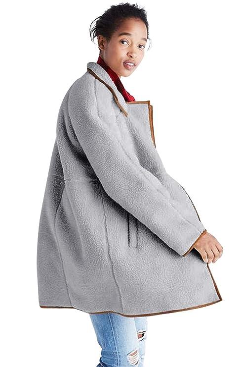 Cappotto Soffice Soprabito Donna Elegante Taglie Forti Caldo