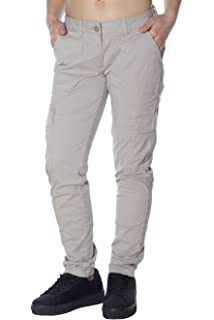 Napapijri Damen Damen Hose Stoff Chino Regular Fit Mid Waist Stretch ... d0fbcb449d