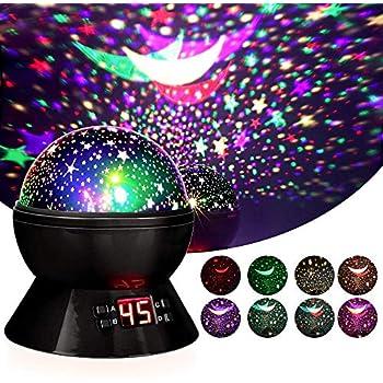 Lbell Star Sky Night Light Rotating Cosmos Star Projector