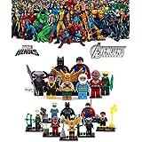8 Minifigures MARVEL DC Comics Avengers Super Heroes Justice League Minifigure Series Building Blocks Sets Toy Compatible With Lego (No box, no card)