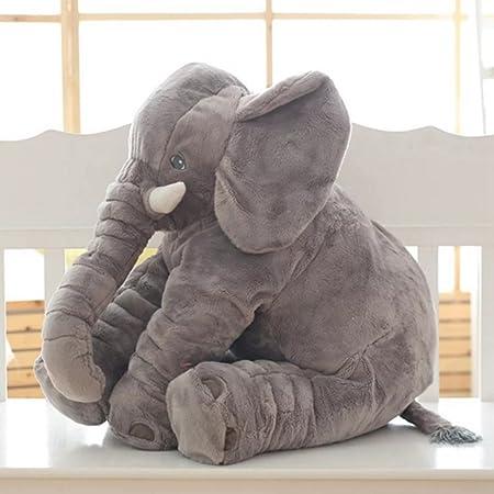 sdtdia Lindo Elefante Juguetes Blandos Animales Almohada rellena Elefante Gris Felpa bebé Almohada Pals cojín de Peluche de Juguete para niños (Gris, ...