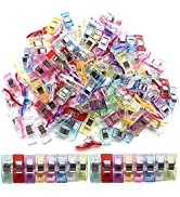 100 Pack Sewing Clips Multipurpose Sewing Clips Premium Quilting Clips Assorted Colors Fabric Cli...