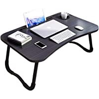 FANPING Laptop Desk, Laptop Bed Tray, Foldable Laptop Stand, Small Dormitory Table, Breakfast Serving Bed Tray (Color…