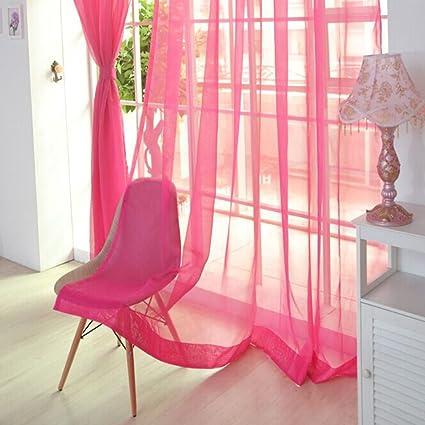 Pueri Rideaux Voilage Semi Transparents Porte Fenêtre Salon Chambre