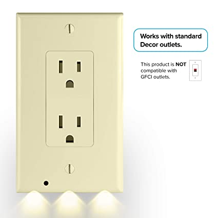 Snappower Guidelight Outlet Wall Plate With Led Night Lights No