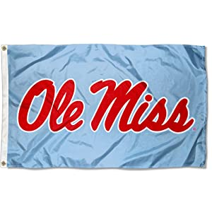 College Flags and Banners Co. Mississippi Rebels Powder Blue Flag