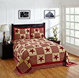 Better Trends/ Pan Overseas Star Bedspread, 96'' x 110''/Full, Red Gold