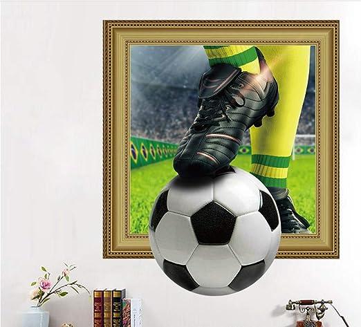 KUANGJING Muro de los Postes Juega fútbol Pegatinas de Pared ...