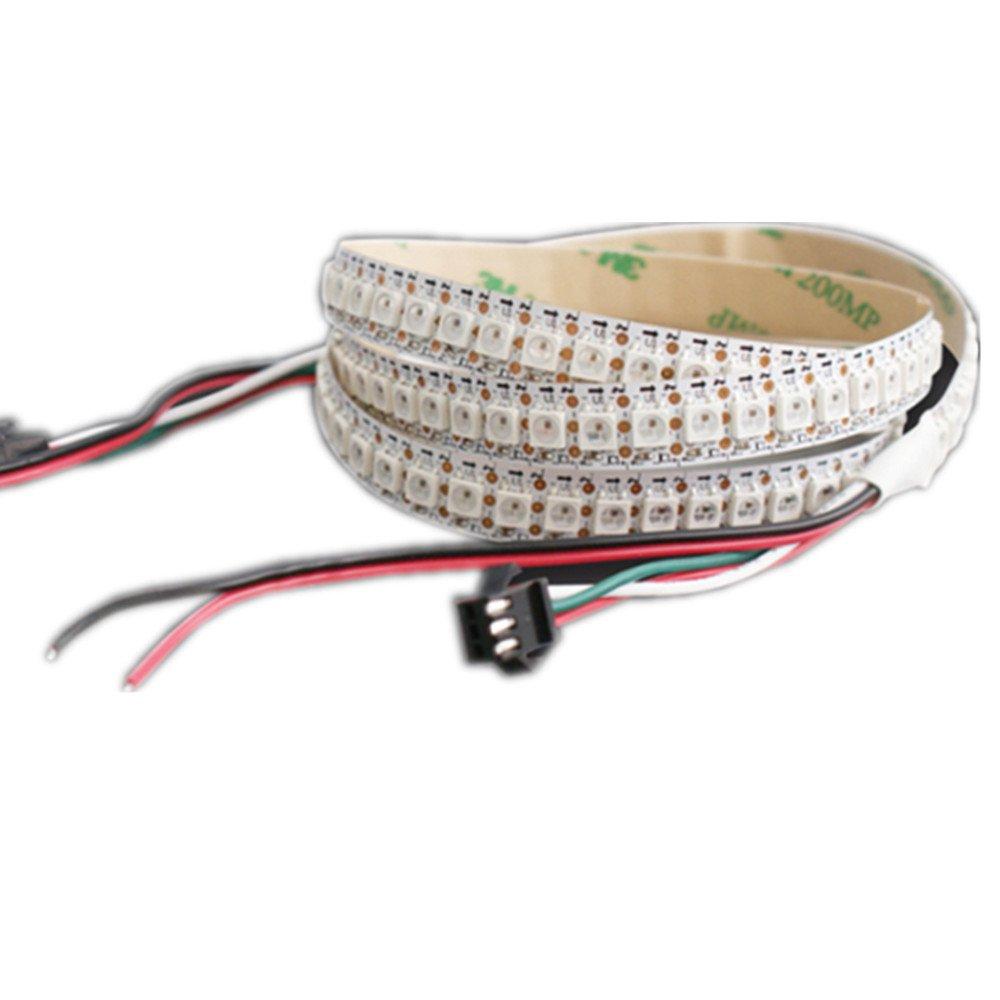 メモ型Best LEDデジタルロープストリップ1 M 144leds 5050 RGB ws2812b RGB 2811 IC 5 V DCホワイトパックの10メートル B01DVUAOB0