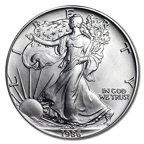 1986 American Eagle One Ounce Silver Bullion Dollar Uncirculated