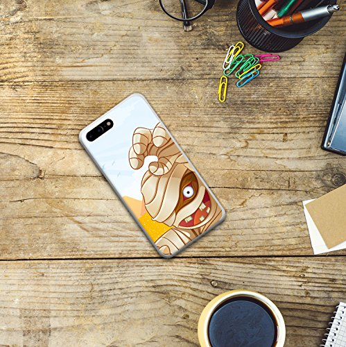 iPhone 8 Plus Hülle, WoowCase Handyhülle Silikon für [ iPhone 8 Plus ] Mumie Handytasche Handy Cover Case Schutzhülle Flexible TPU - Transparent