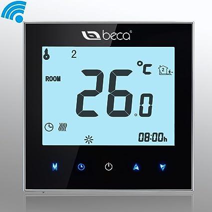 Termóstato Caldera Inalámbrico, Interruptor BECA Pantalla táctil LCD 3A Calentador de agua / gas Calentador