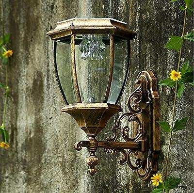 MEIREN Wall Sconce Light Wall Lamp Decor Lighting Fixture Outdoor Solar Led Light Control Sensor Waterproof Solar 160270205Mm ,#1134