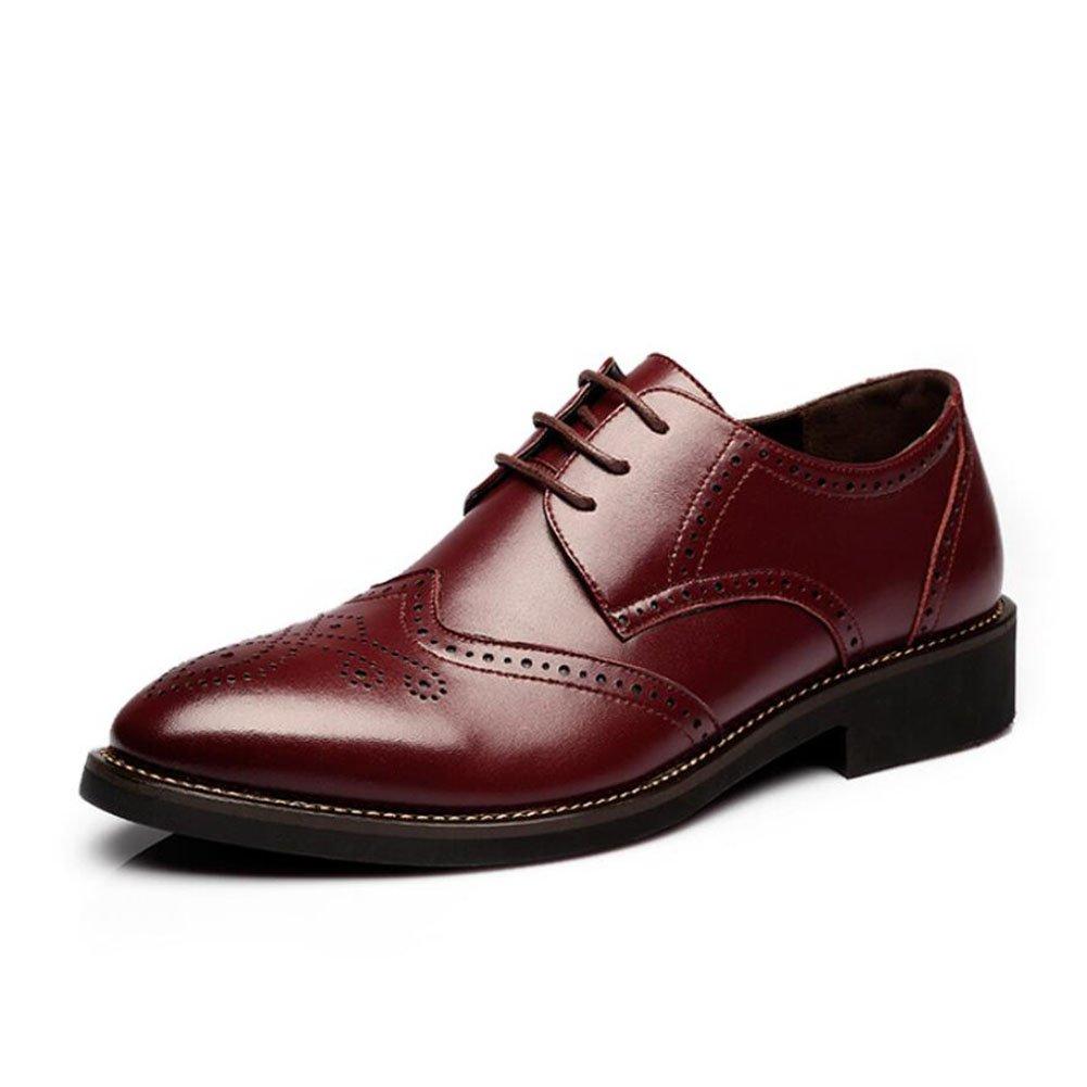 Herren Lederschuhe Frühling Herbst Formelle Schuhe Bullock Schuhe Schuhe Schuhe Komfort Oxfords Formale Business Arbeit Bequeme Mokassins (Farbe   D, Größe   37)  f24904