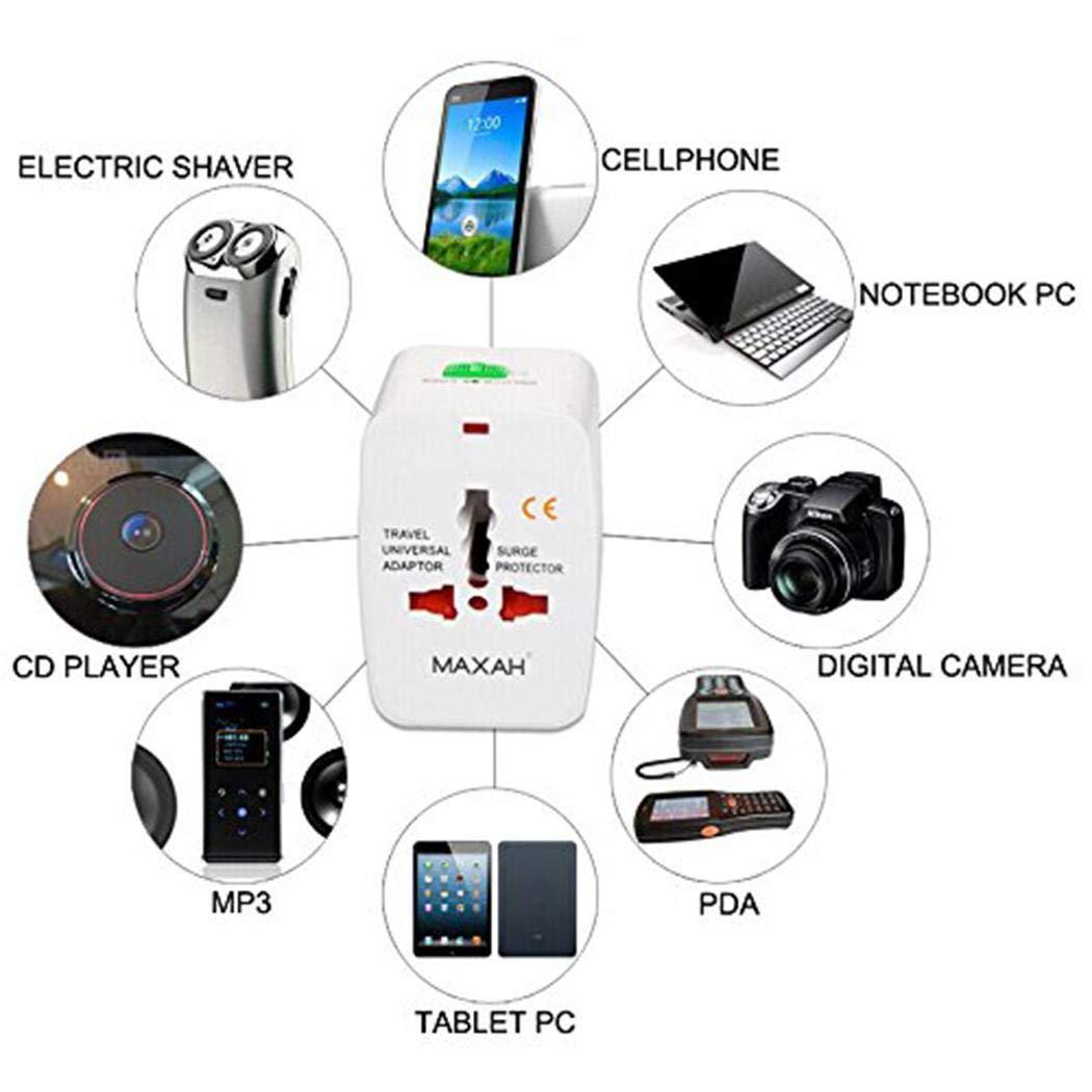 Xixini Worldwide All-in-One-Universal-Reiseadapter für Multifunktionsanwendungen Netzteil Netzteil Ladegerät mit Ladeanschlüssen für USA EU UK AUS