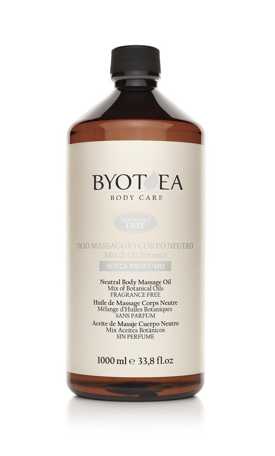 Byothea Olio Massaggio Corpo Neutro senza Profumo, 1000 ml 8054377032081