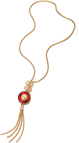 Pretty statement necklace with circle-shaped pendants