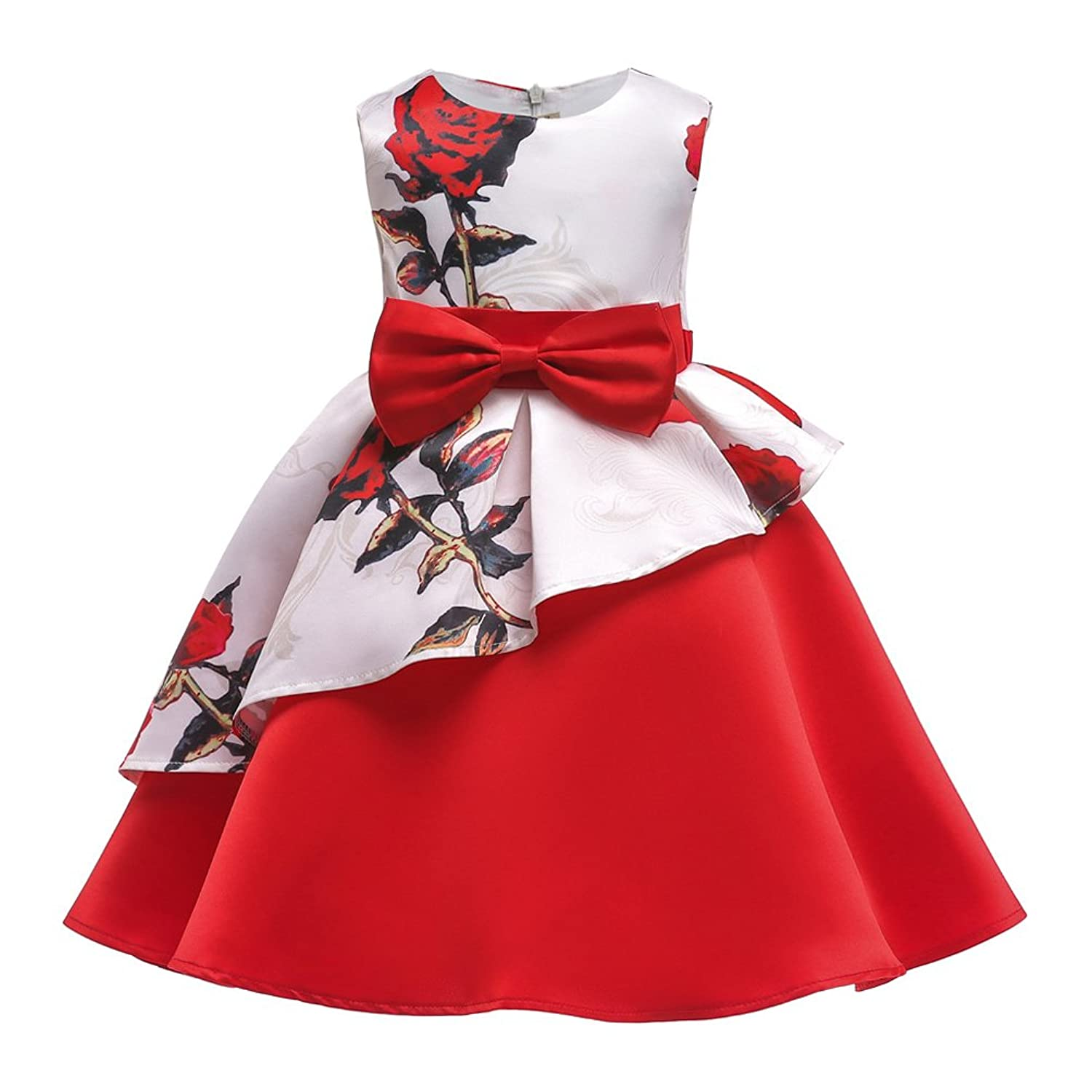 4f9695e82a32 ... the delicate skin of babies and girls. Pithy patterns and colors and  solid-cutting-out make the formal dress totally different.Round neckline,  flower ...