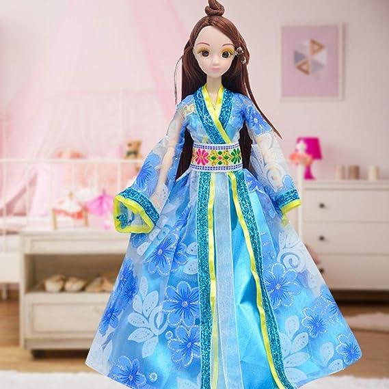 Simlug Muñecas Chinas de plástico con Disfraz Antiguo para niñas ...